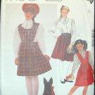 MCCALLS  2104 Girls Skirt,  Bibs  & Blouse