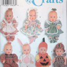 Simplicity 7430 Craft Doll Clothes in  Two Sizes