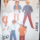 MCCALL'S  9387 Sewing Pattern for Girls Shirt, Top and Pants or Shorts Size 14