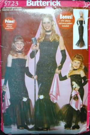 "Butterick 5723 Craft Costume Misses/Girls'/Children's/Doll 11-1/2"""