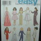 """Simplicity 9838 Craft Sewing Pattern for 11 1/2"""" Doll Dresses"""
