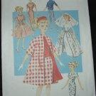 """Butterick 6496 11 1/2""""  Doll Dress Patterns"""