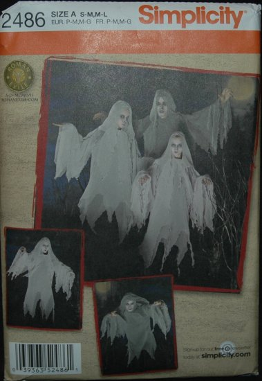 SIMPLICITY 2486 GHOST COSTUMES
