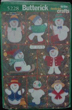 Butterick 5228 Christmas Ornaments Craft  Pattern