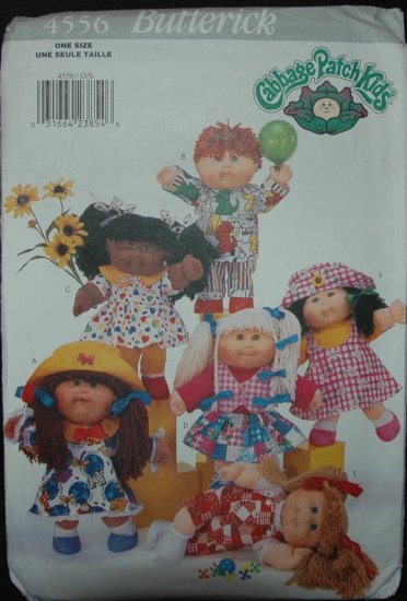 Butterick 4556 Craft Doll Clothes - Cabbage  Patch