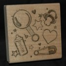 BABY ITEMS RUBBER STAMP