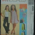 MCCALLS 2569 Girls Dress, Top, Skirt & Pull on Pants