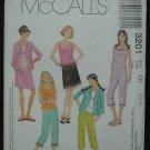 MCCALLS 3201 Girls Shirt-Jacket, Top, Pants & Skirt
