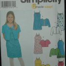 Simplicity 9653 Girl's' Dress and Jacket