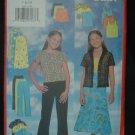 Butterick 5447 Girl's' Top, Skirt and Pants