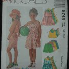McCalls 8743 CHILDREN'S DRESS ROMPERS, TOP AND PULL-ON SHORTS
