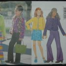 Butterick 5722 Girls' Jacket, Top, Skirt &  Pants