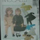 MCCALLS 9109 Toddlers' Unlined Jacket, Dress, Pull-on Pants, Hat & Headband