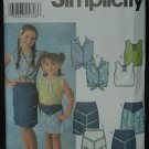 SIMPLICITY 7191 Child's and Girls' Tops, and Skirts