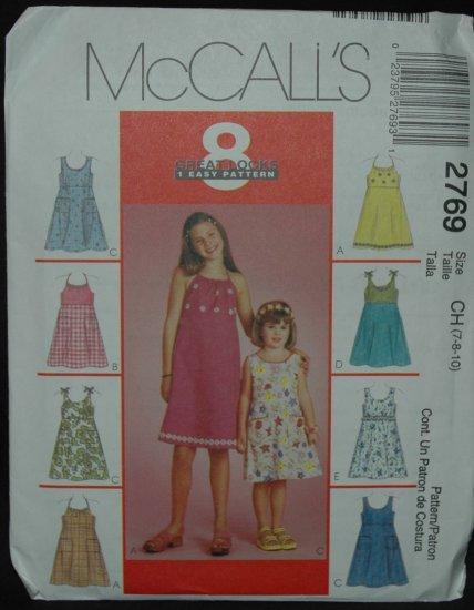 McCalls 2769 Children's and Girl's' Dresses