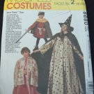 MCCALLS 6680 COSTUME -  MAGICIAN, WITCH, RED RIDING HOOD, REAPER, PRINCESS, ROBIN HOOD, MARIAN