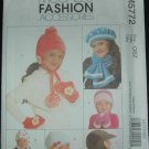 McCalls M5772 CHILDRENS', BOYS', GIRLS' HATS, SCARVES AND MITTENS