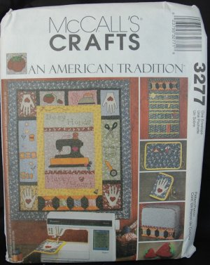 MCCALLS 3277 CRAFT PATTERN - SEWING ROOM ACCESSORIES