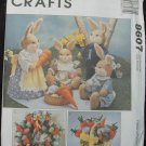 MCCALLS 8607 CRAFTS -BUNNY PICNIC