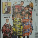MCCALLS M5771 CRAFT MISSES', MENS, BOY'S & GIRLS PONCHOS, MITTENS & TOTES