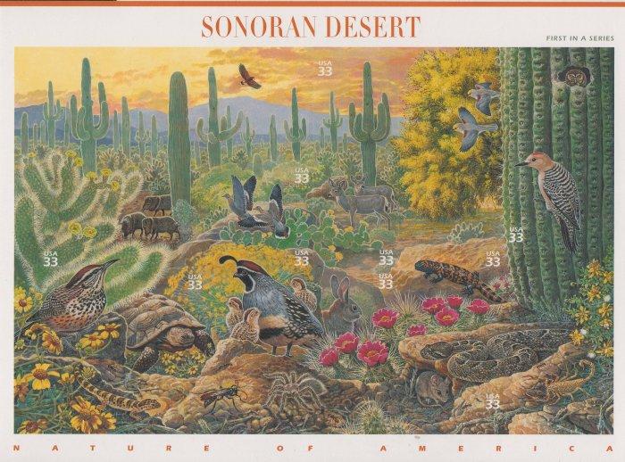 "U.S. POSTAGE STAMPS ""SONORAN DESERT"""