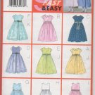BUTTERICK 6419 CHLIDRENS'/GIRLS' DRESS & OVERSKIRT