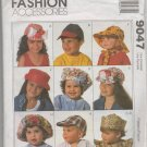 MCCALLS 9047 INFANTS', CHILDREN'S, BOYS' AND GIRLS HAT PACKAGE