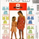 MCCALLS 9369 CHILDREN'S AND GIRLS' TOPS, SHORTS AND SKORT SETS