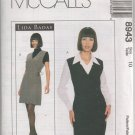 MCCALLS 8943 MISSES LINED JUMPER AND BLOUSE