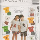 MCCALLS 9367 CHILDREN'S AND GIRLS' T-SHIRT & PULL-ON SHORTS & ANIMAL TOY