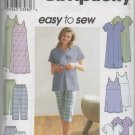 SIMPLICITY 9188  MATERNITY JUMPER OR TUNIC, PANTS OR SHORTS & KNIT DRESS OR TOP SZ 16-22
