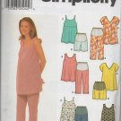 SIMPLICITY 9749  MATERNITY TOPS AND CAPRI PANTS OR SHORTS