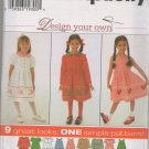 SIMPLICITY 7283 SEWING PATTERN FOR CHILD'S DRESS AND JUMPER-DESIGN YOUR OWN HOLIDAY DRESS