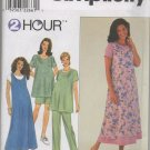 SIMPLICITY 8589 PATTERN FOR MATERNITY TOPS AND CAPRI PANTS OR SHORTS