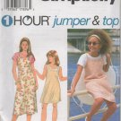 SIMPLICITY 9530  Girls' Jumper or Dress and Top