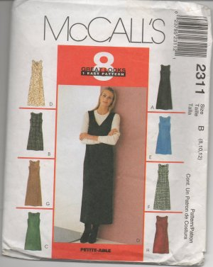 MCCALLS 2311 MISSES' DRESS OR JUMPER IN TWO LENGTHS