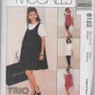MCCALLS 8122  MATERNITY DRESS, TANK TOP, TOP, PULL-ON PANTS, SHORTS & SKIRT SZ 12-14