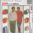 MCCALLS 2568 MEN'S TOP,  PULL-ON PANTS AND SHORTS
