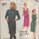 MCCALL 2643 SEWING PATTERN FOR  MISSES' JUMPER Size 10-12-14