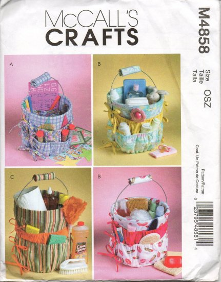 MCCALLS M4858 CRAFT PATTERN BUCKET ORGANIZERS
