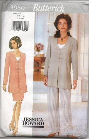 BUTTERICK 3950 MISSES' TUNIC, TOP, SKIRT, & PANTS