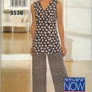 BUTTERICK 3538 MISSES' TOP & PANTS