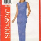 BUTTERICK 5620 MISSES' TUNIC & PANTS
