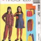 MCCALLS 8965 GIRLS' UNLINED JACKET, JUMPER &  PULL ON  PANTS