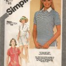 SIMPLICITY 9854 SEWING PATTERN FOR MISSES PULLOVER TOPS SIZE 10-14