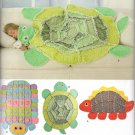 SIMPLICITY 2493 - SEWING PATTERN FOR RAG QUILT-TURTLE, CATERPILLAR, DINOSAUR,
