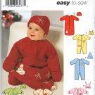 SIMPLICITY 5720 BABY BUNTING, ROMPER & HATS  SZ 1 MOS - 6 MOS