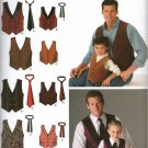 SIMPLICITY 4762 MENS' & BOYS VESTS & TIES