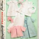 SIMPLICITY 2900 BABIES' LAYETTE AND BONNET IN 3 SIZES