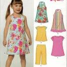 NEW LOOK (Simplicity) 6908 Girls' Dresses, Top, & Pants SZ 3-8